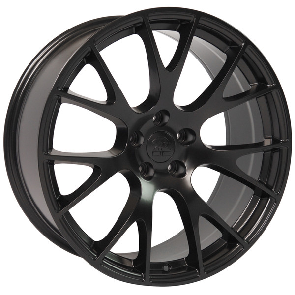 22-inch Satin Black Rims fit Dodge Charger-Challenger (Hellcat style) DG15-2
