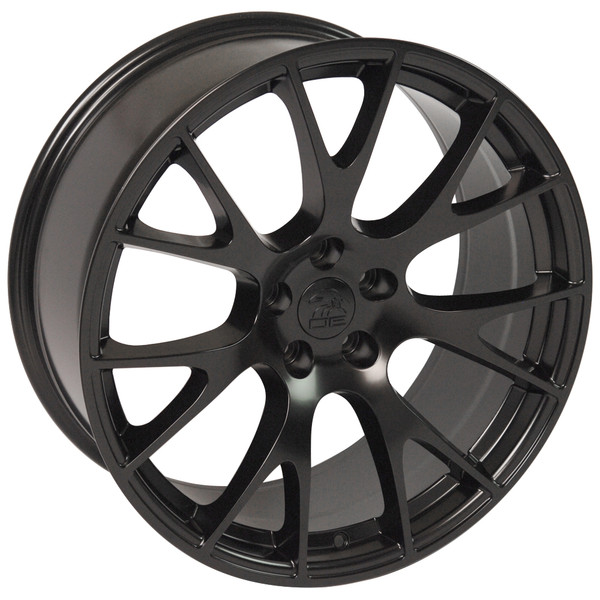 22-inch Satin Black Rims fit Dodge Charger-Challenger (Hellcat style) DG15-3