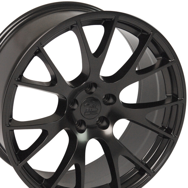 22-inch Satin Black Rims fit Dodge Charger-Challenger (Hellcat style) DG15-3p