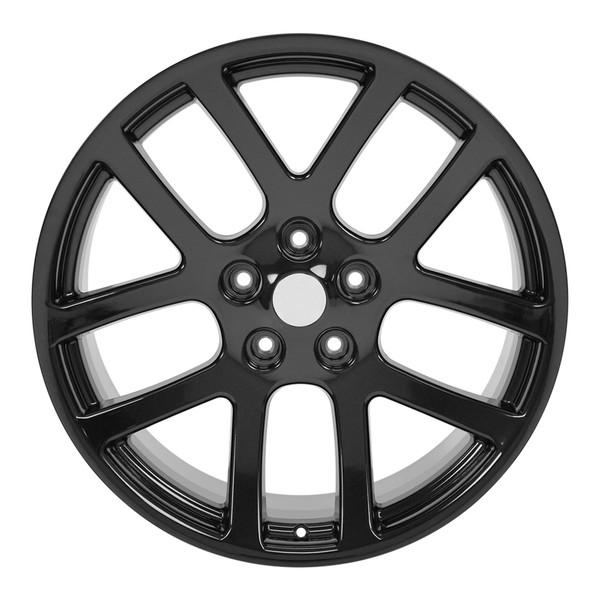 Dodge Ram Rims >> Dg51 22 Inch Replica Ram Srt Black Rims And Tires Bridgestone