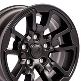 17X8 Satin Black Rebel style rim