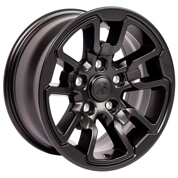 17x8 Rebel Style rim Satin Black