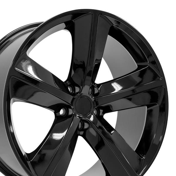 dg05 20 inch black rims for dodge challenger charger srt style. Black Bedroom Furniture Sets. Home Design Ideas