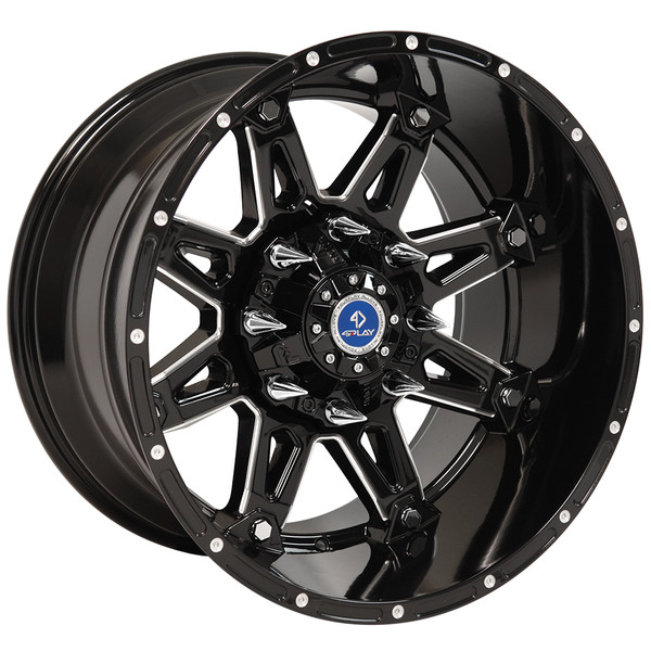 Fp01 20 Inch Black Machined Face Aftermarket Wheel Set For