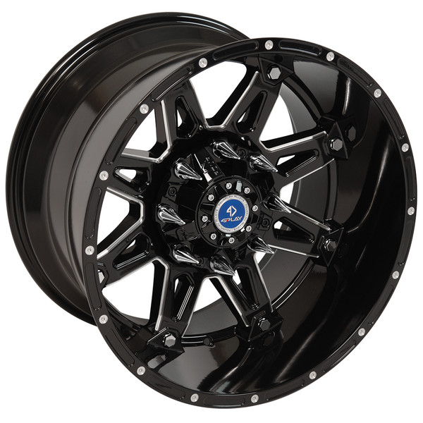 FP01 20-inch black machined face aftermarket wheel set for Chevy and