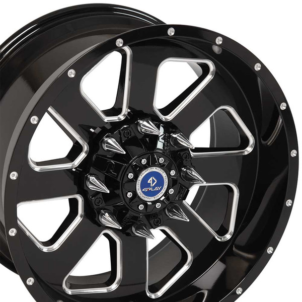 Fp03 20 Black Machined Face Aftermarket Wheel For Gm