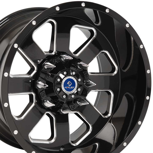 FP03 20-inch black machined face aftermarket wheel set for Chevy and