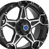 Play Black Machined Face Custom Wheel Fits Ford X