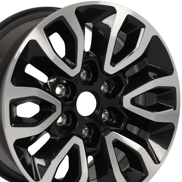 17 Wheel Fits Oem Ford Raptor Fr72 17x8 5 Black Mach D Oem