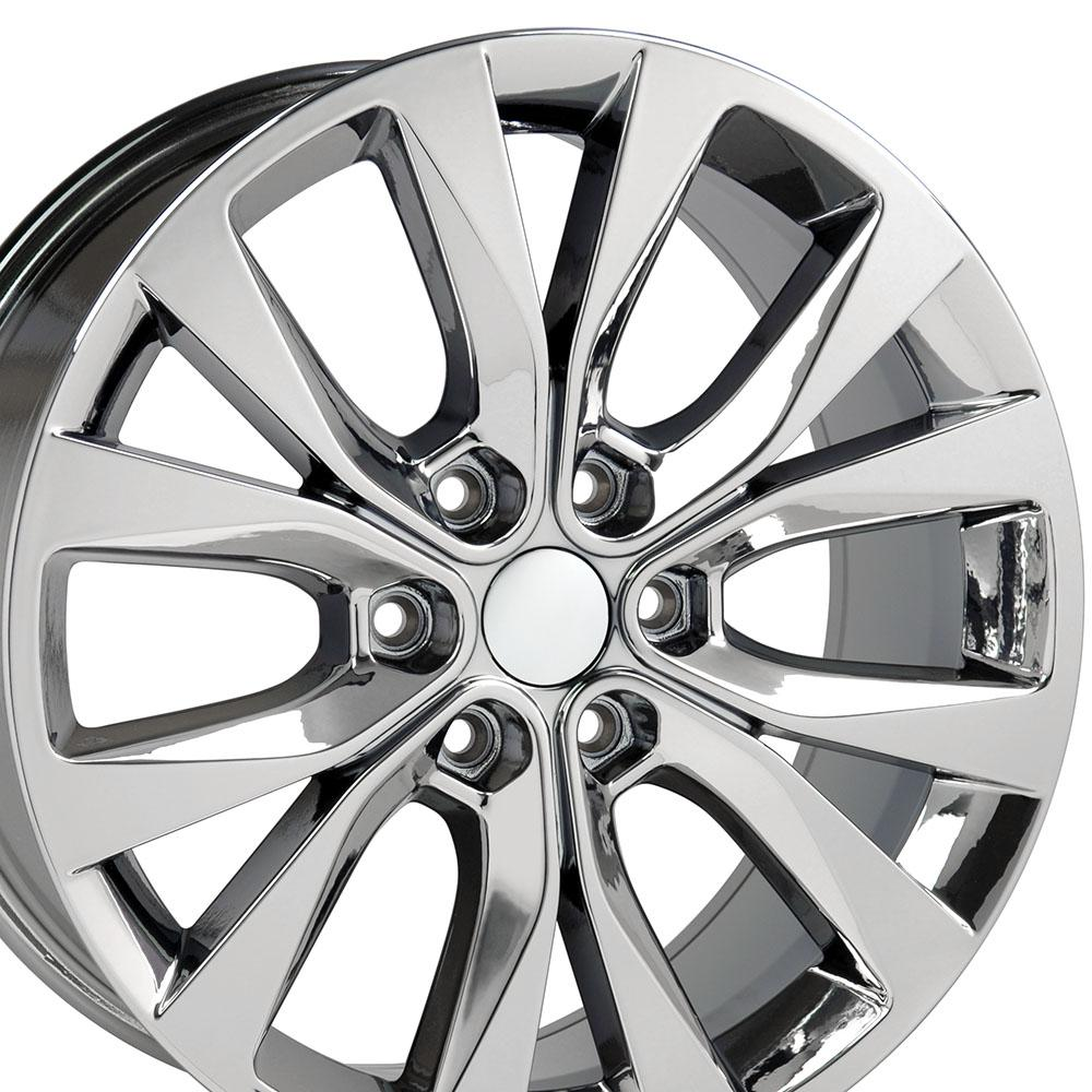 20 Wheel Fits Ford F 150 Wheel Pvd Chrome 20x8 5 Hollander 10003
