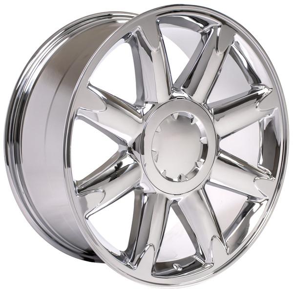 20 inch chrome rims fit gmc sierra denali style cv85 replica wheels. Black Bedroom Furniture Sets. Home Design Ideas