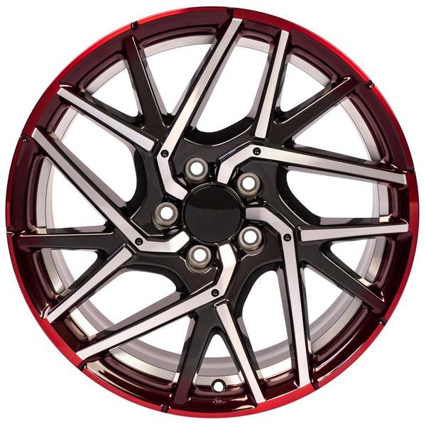 Machined Gunmetal Honda Wheels
