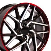 Machined Gunmetal Honda Civic Rim