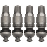 set of 4 Huf silver TPMS valve stems
