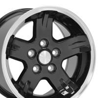 15x8 Black rims for Jeep Wrangler