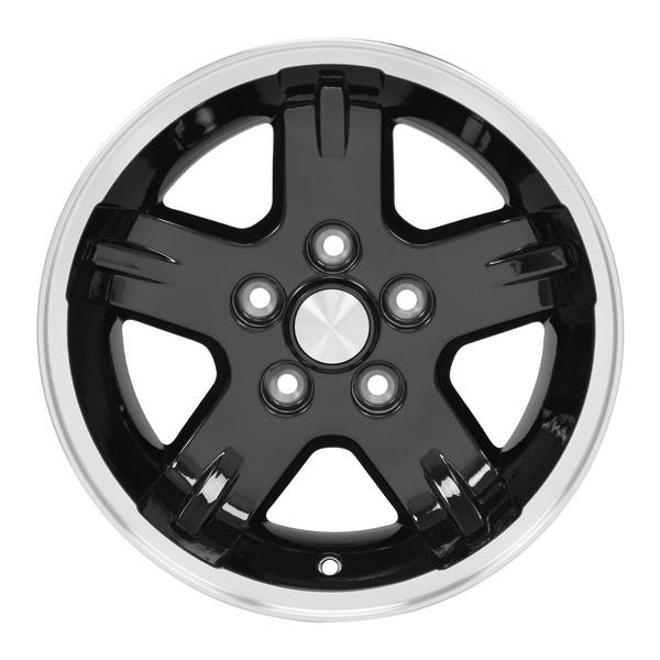 15x8 Black Wheels for Jeep XJ