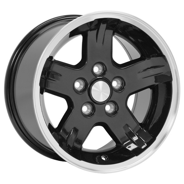 15x8 Black rims for Jeep Cherokee