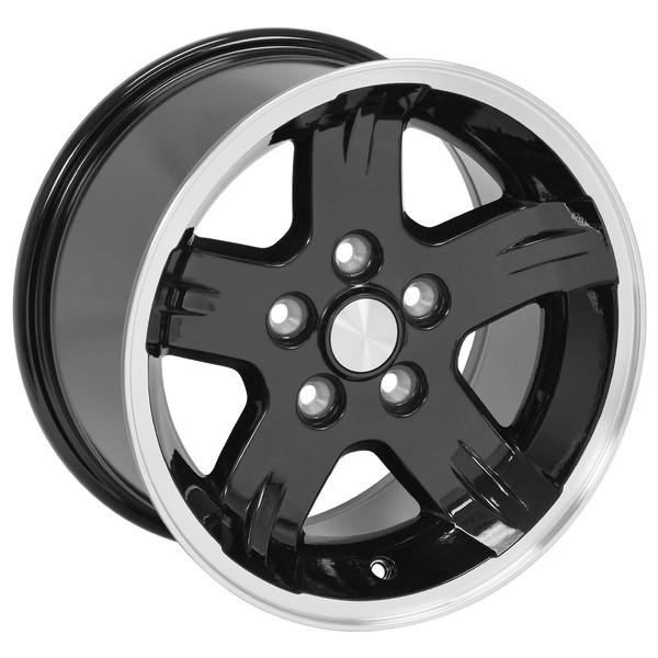 15x8 Black Wheels for Jeep YJ