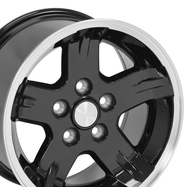 15x8 Black Wheels for Jeep TJ