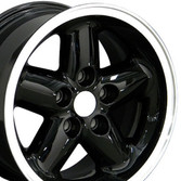 Set of 15x8 Black rims for Jeep YJ