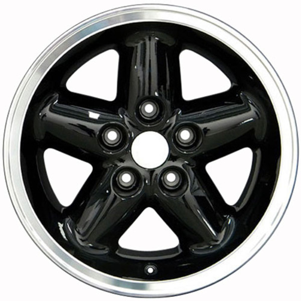 Set of Black rims for Jeep Wrangler