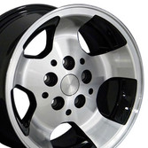 15x8 Black rim for Jeep Wrangler YJ