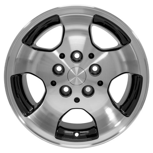 15x8 Black rim for Jeep Wrangler TJ