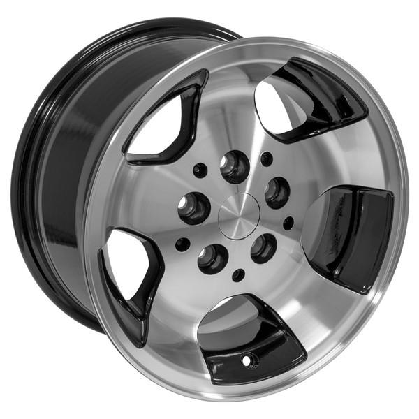 Black 15x8 Wheel for Jeep Wrangler