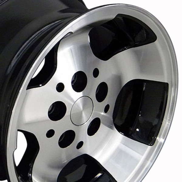 Black 15x8 Wheel for Jeep Wrangler