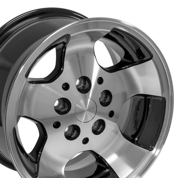 Black 15x8 Wheel for Jeep Cherokee