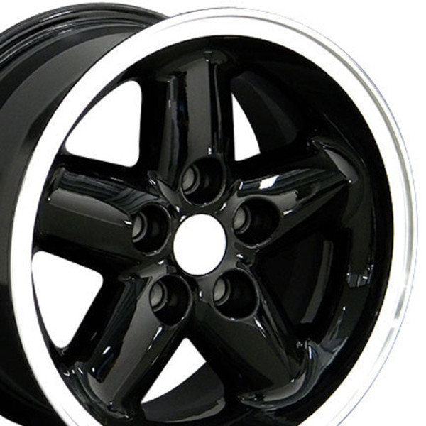 15x8 Black rim for Jeep Wrangler
