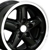 15x8 Black rim for Jeep Wrangler