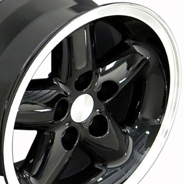 Black 15x8 rim for Jeep Wrangler TJ