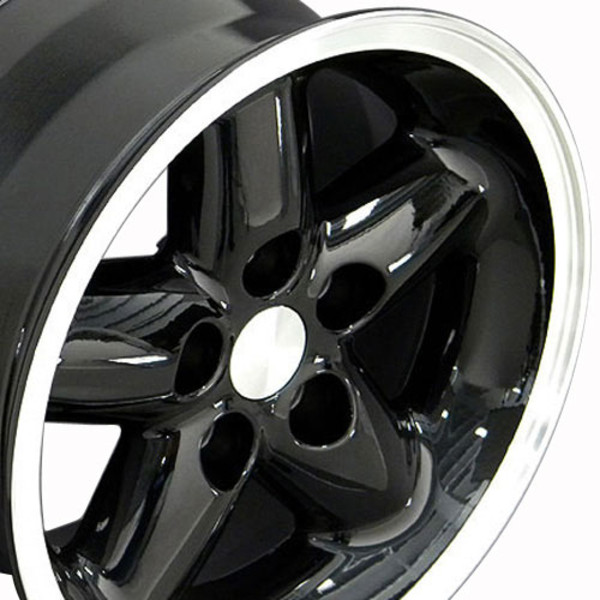 Black 15x8 rim for Jeep Wrangler TJ