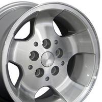15x8 Silver rim for Jeep Wrangler