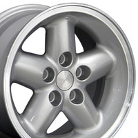 Set of 15x8 Silver rims for Jeep YJ