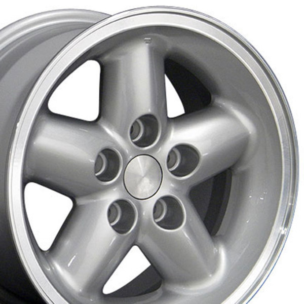JP07 15-inch Silver Machined Lip Wheel Set For Jeep Wrangler