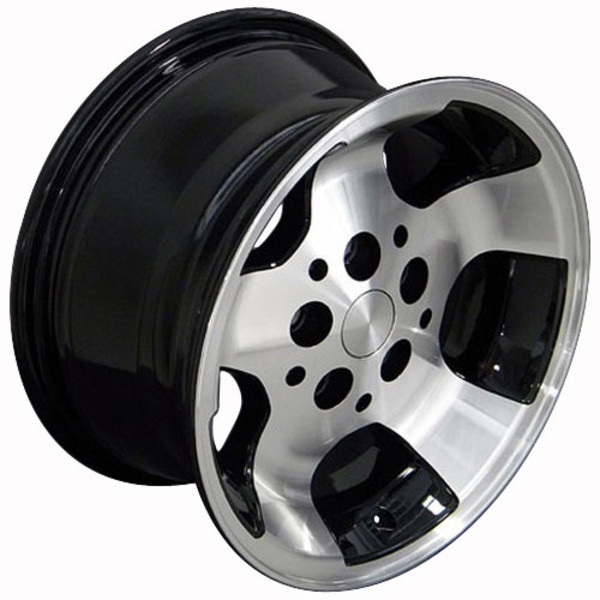 Set of 15x8 Black rims for Jeep TJ
