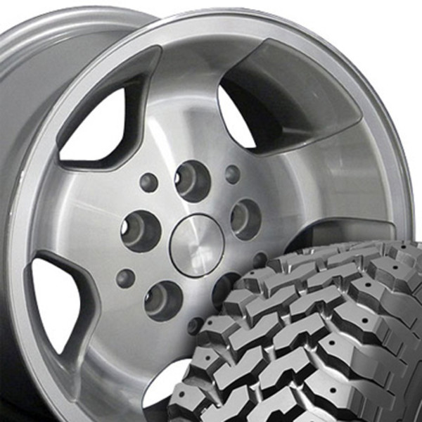 Set 15x8 Silver rims for Jeep YJ
