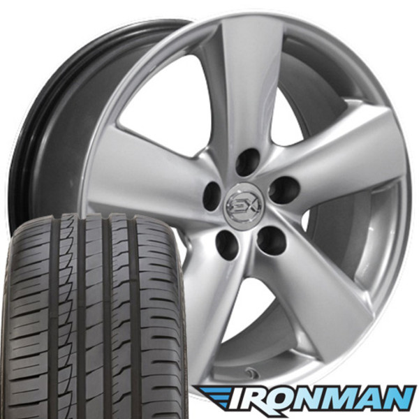 18 Inch Tires >> Lx19 18 Inch Replica Lexus Gs Hyper Silver Rims And Tires Ironman