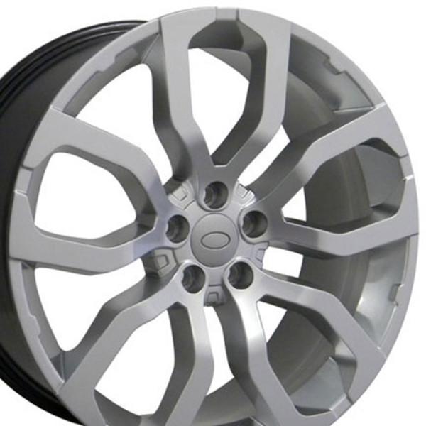 "22"" Wheel Fits Land Rover Range Rover LR04 22x10 Hyper Silver"