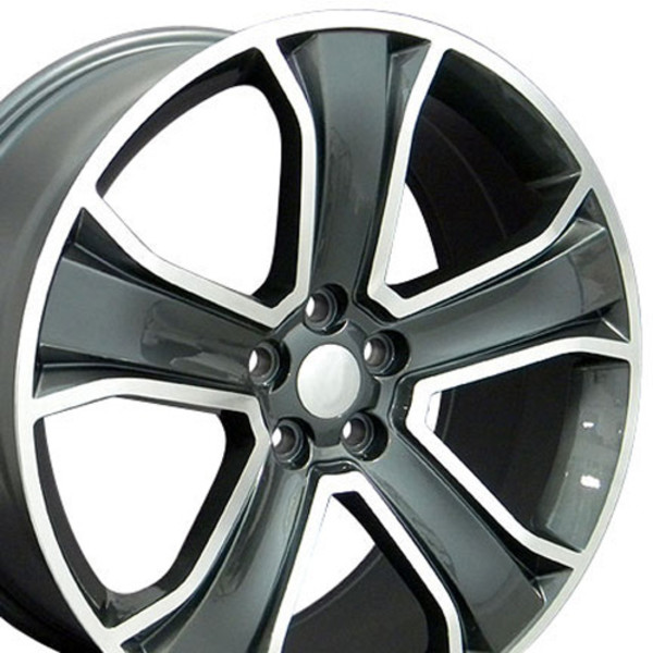 20 Quot Wheel For Land Rover Lr08 20x9 5 Gunmetal Machined Rim