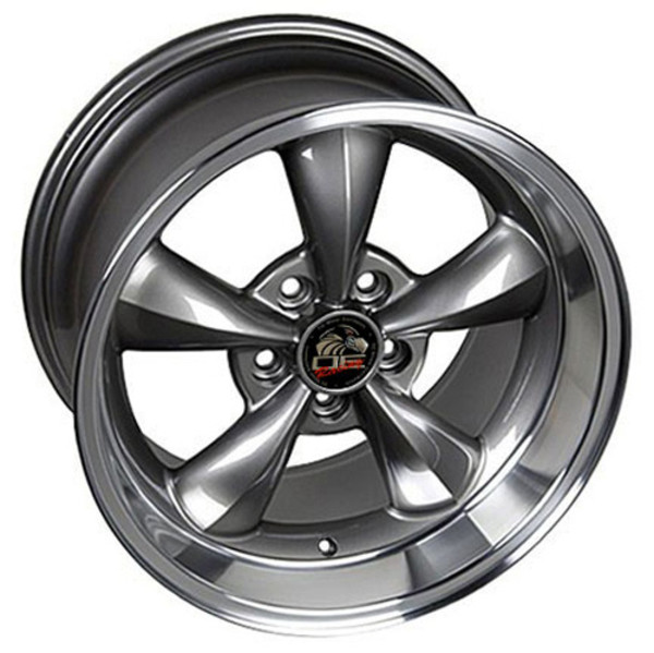 17 Inch Machined Lip Anthracite Rims Fit Ford Mustang Fr01 Replica
