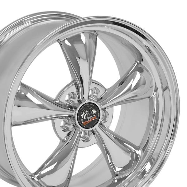 18 Rim Fits Ford Mustang Bullitt Style 18x9 Chrome