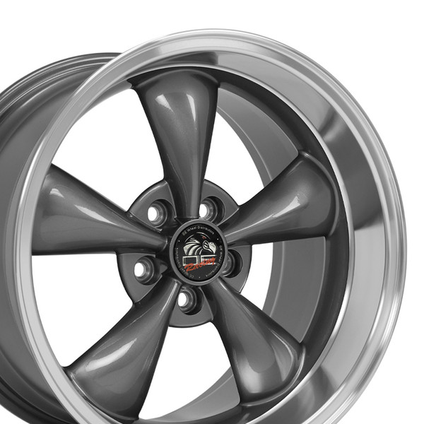 Staggered Set Of 18 Quot Machined Lip Anthracite Rims Fit Ford