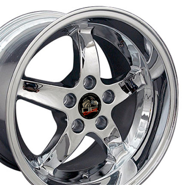Ford Mustang Cobra R Style Replica Wheels Chrome 17x10 5 17x9 Set