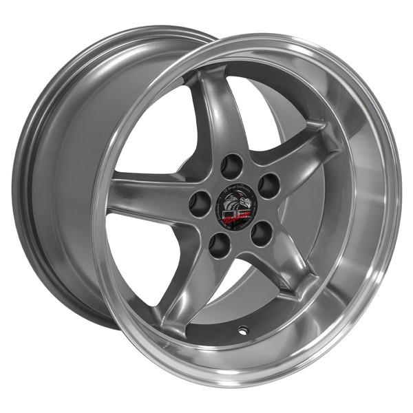 Ford Mustang Cobra R Style Replica Wheels Gunmetal 17x10 5 17x9 Set