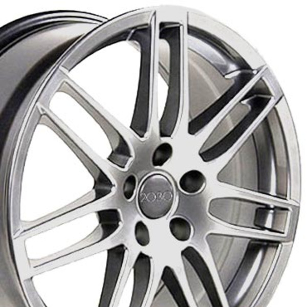 Set Of 18-inch Hyper Silver Rims Fits Audi A3