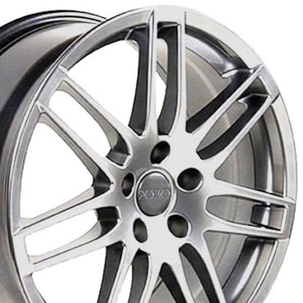 Audi RS4 Style Replica Wheels Hyper Silver 18x8 SET
