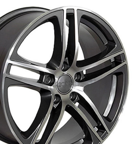 Audi R Style Replica Wheels Gunmetal X SET - Audi rims